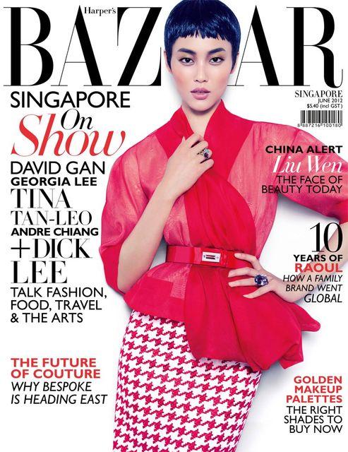 Harper's Bazaar Singapore June 2012 Liu Wen by Gan